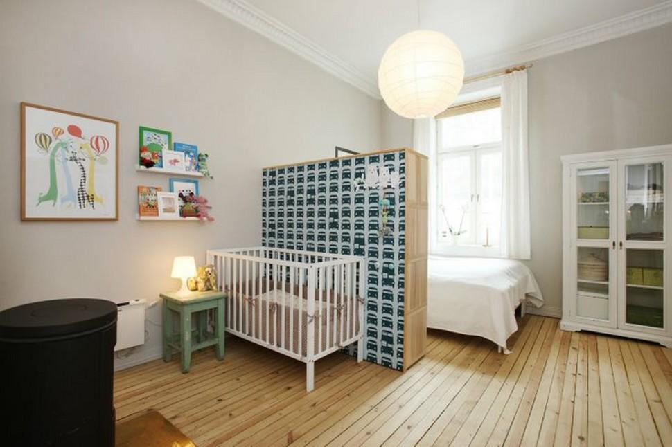 wie man ein schlafzimmer teilt mit baby und mit stil. Black Bedroom Furniture Sets. Home Design Ideas